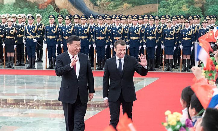 习近平同法国总统马克龙举行会谈