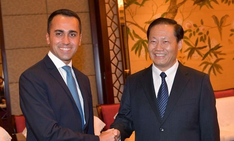 彭清华会见意大利副总理迪马约