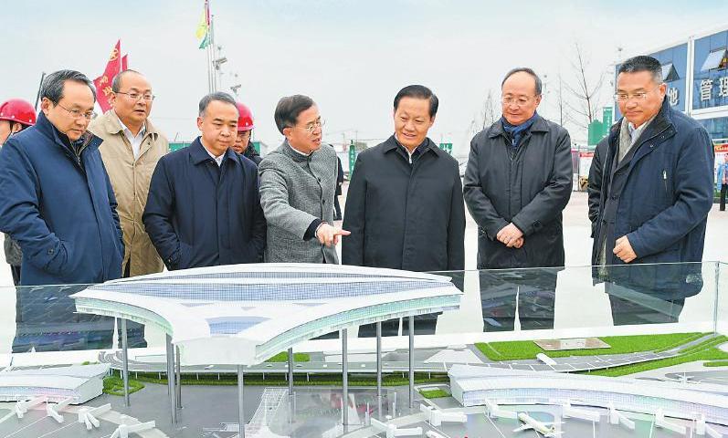 彭清华调研天府国际机场建设
