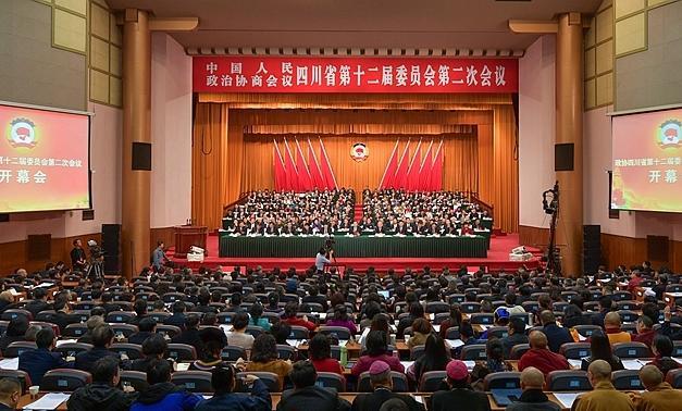 四川省政协十二届二次会议在成都开幕