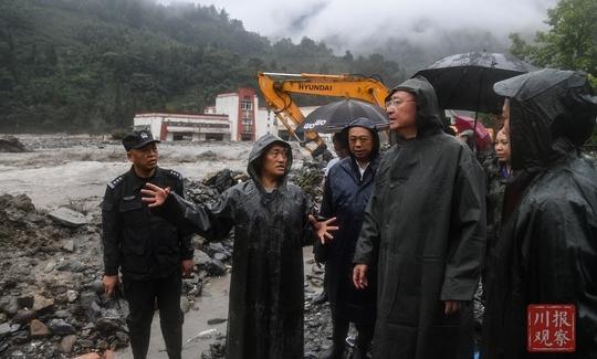 尹力赴汶川县指导防汛救灾工作