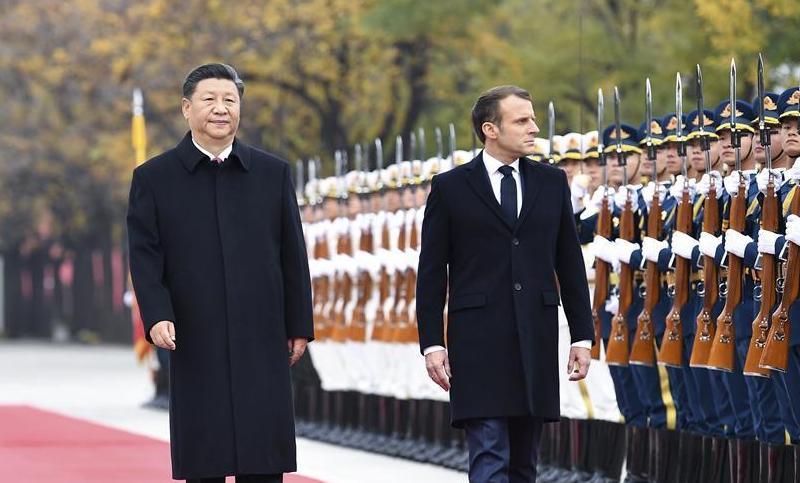 国家主席习近平同法国总统马克龙会谈