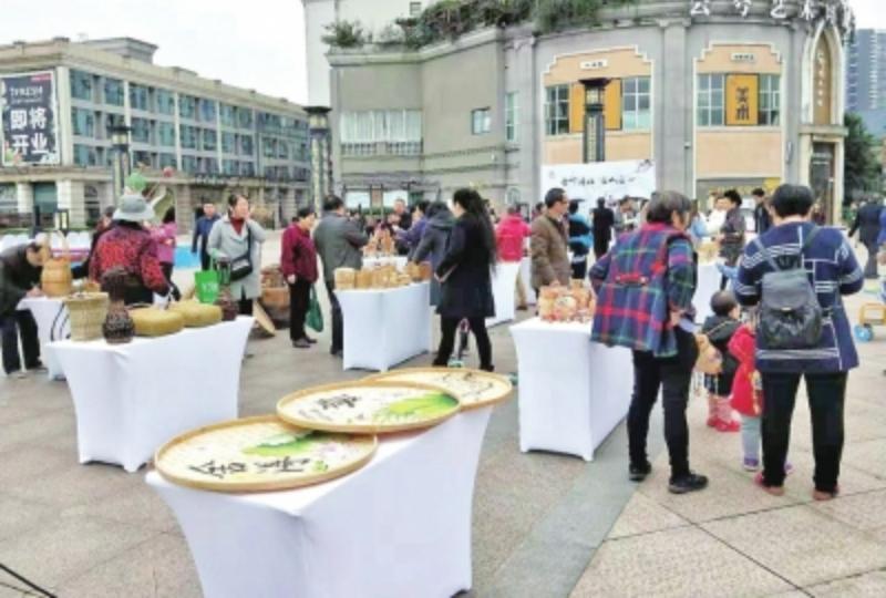华阳街道将军碑社区举行竹艺文化展 重拾竹编文化 丰富居民生活
