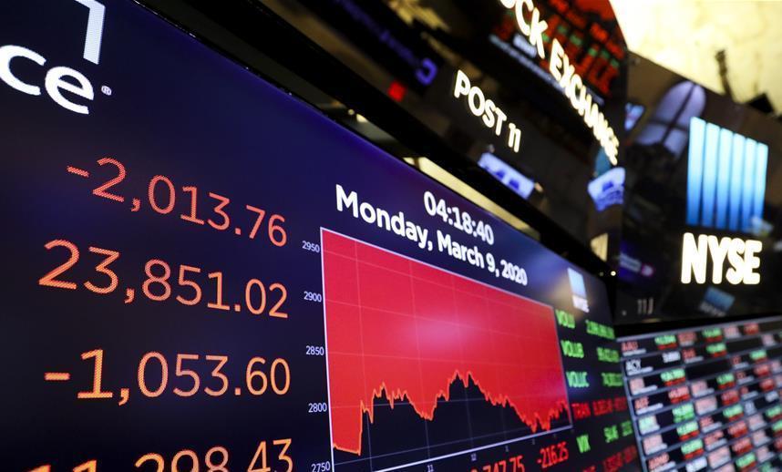油价大跌与疫情扩散!美股暴跌逾7%