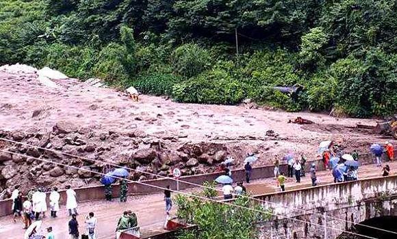小金县暴发泥石流灾害致4人失联