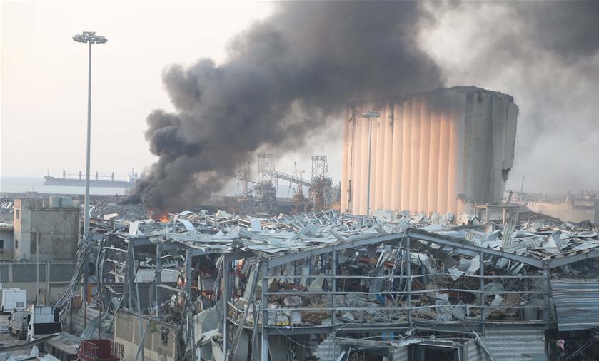 黎巴嫩首都港口区爆炸致73死3700伤